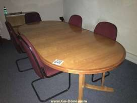 10 Seater Cherry wood Boardroom/Meeting Table - R3500