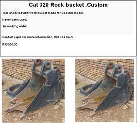 Cat 320 Rock Bucket custom made for Sale