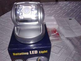 Lampa bateryjna mocna z czujnikiem ruchu i zmierzchu