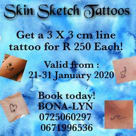 Skin Sketch Tattoos