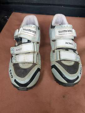 Shimano SH-WM61 Women's MTB Cycling Shoe size 7.2 mint condition