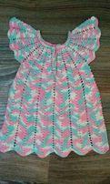 Новое вязаное платье ручной работы на возраст 1-1,5 года