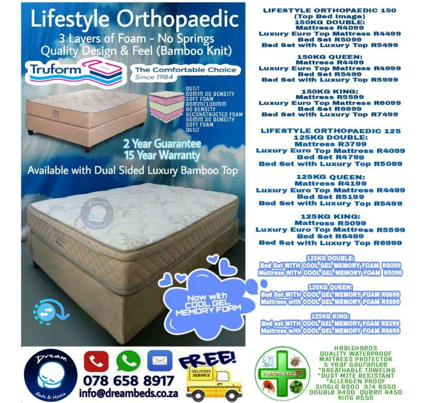 Double or Queen BED for 150kg - FREE Delivery 0