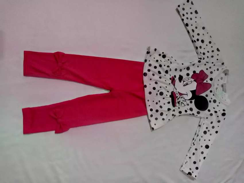 Minnie mouse character peplum top and pant 0
