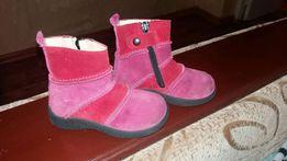 Сапожки ботинки из натуральной замши.