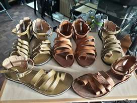 Brand new Beautiful leather sandals size 6& 7