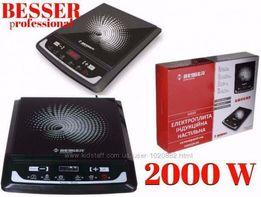 Индукционная плитка керамическая Besser 10212 2000W электро плита Кие