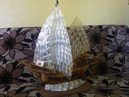 Фрегат корабль светильник,лампа,мурано,муранское стекло XX в.в Италия