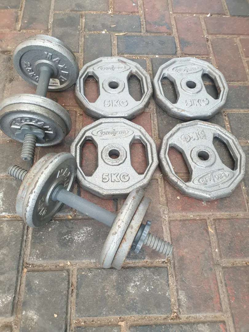36kg weights and dumbbell bars