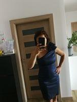 Satynowa sukienka na wesele rozmiar 38