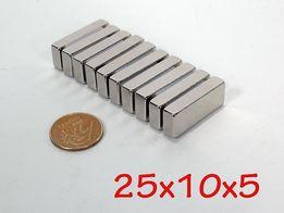 Неодимовый магнит 25х10х5 ПОЛЬША КАЧЕСТВО 100%, ПОДБОР ВСЕ РАЗМЕРЫ !