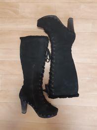 Высокие сапоги ботинки на шнуровке Celine. Разм.40