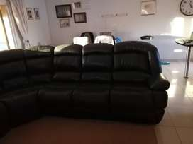 Corner leather uppers lounge suite 7 Seater + coffee table