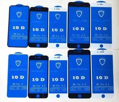Стекла 3D,6D,9D,10D на iPhone 6/6S/6+/7/7+/8/8+/X/XS/XSmax/XR на Айфон