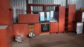 Huge Kitchen with granite gas stove and oven