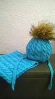 Зимняя шапка и шарф-хомут