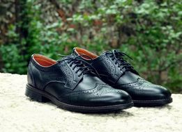 Мужские кожаные туфли броги из натуральной кожи и Замши