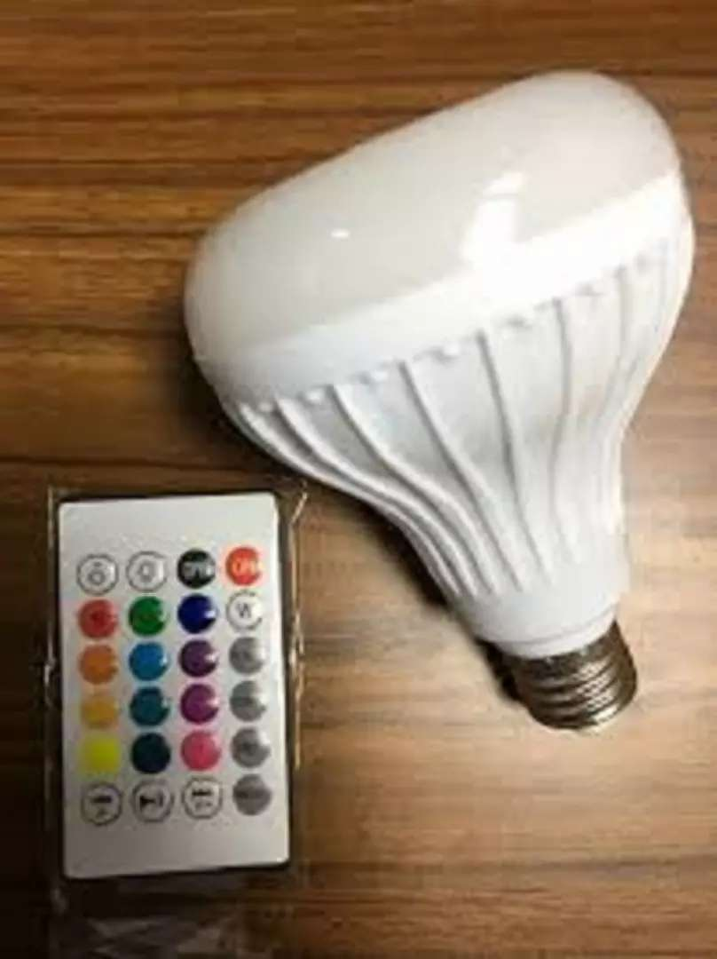 12W LED Wireless Bluetooth Light Bulb Music Speaker+ Remote 0