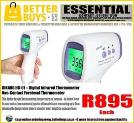 DIKANG LARGE Infrared Thermometer – Handheld Non-Contact Forehead Ther