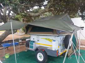 4x4 Echo 4 off road  camping trailer with an Echo 5 tent