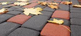 Тротуарная плитка литая, прессованная цвет и форма выбор