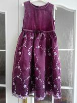 Нарядное платье F&F на 6-7 лет цвет бордо и малиновый 116-122 см