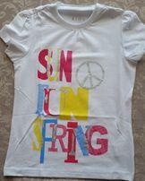TCHIBO bluzeczka koszulka t-shirt SUN FUN SPRING śliczna lato 122-128