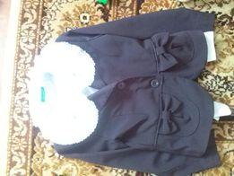 Школьный чёрный костюм, пиджак, сарафан, брюки, шкільний костюм