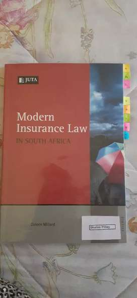Juta , Modern Insurance Law in South Africa