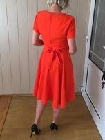 Sukienka ciążowa Asos Maternity XS/S pomarańczowa rozkloszowana