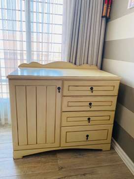Wooden Cot and compactum combo or separate