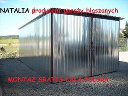 Garaż blaszany Garaże blaszane na wymiar Cały Kraj WZMOCNIONY Blaszak