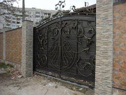 Ковані вироби: ворота,перила,дашки,люстри.