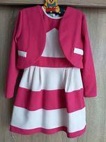 Sukienka+bolerko 128/134