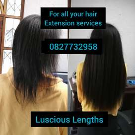 Hair extension services, installation, removal, re-bonding conversions