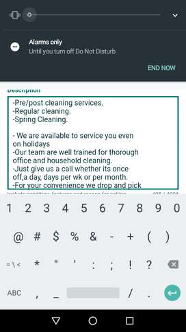 Rainbow cleaning services.