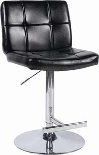 Image of Luxurious Black PU Bar Stools - Perfect for the Kitchen Breakfast Bar