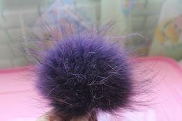 помпон енот фиолетовый 19 см