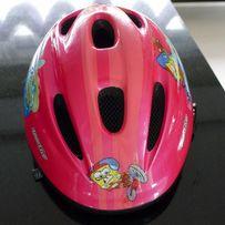 Kask rowerowy dziecięcy różowy Cratoni Sportivo Spongebob
