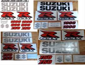 K6 GSXR decals graphics / vinyl cut sticker sets