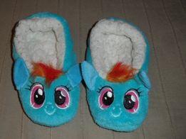 my little pony rainbow dash ciepłe kapcie baletki 30/31