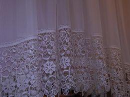 Śliczne Firany gotowe FIRANA firanka na metry WOAL GIPIURA BIAŁA ECRU