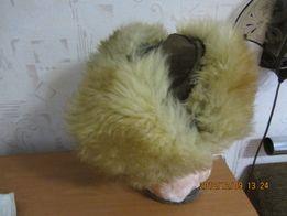 Шапка -ушанка натуральная овчина .замша размер 56