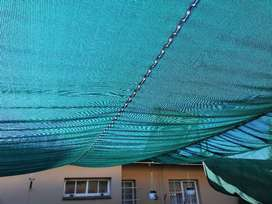 Shade cloth carport/garden or patio shade 4mx7m with attachments