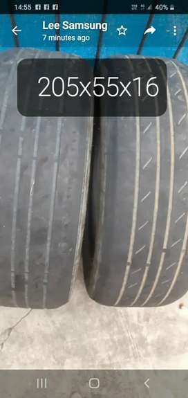Tyres Used. EAST LONDON.  R250 for the two. Call Lee.
