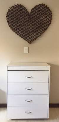 Image of white chest of drawers