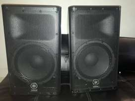 TWO YAMAHA POWERED DXR12 SPEAKERS