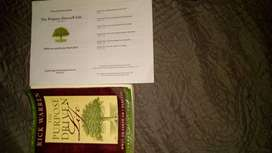 The purpose driven life book and study guide. MAKE ME AN OFFER.