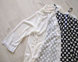 Пеньюар и белый полупрозрачный халатик, комплект