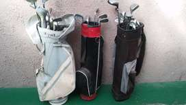 Golf clubs with bags included